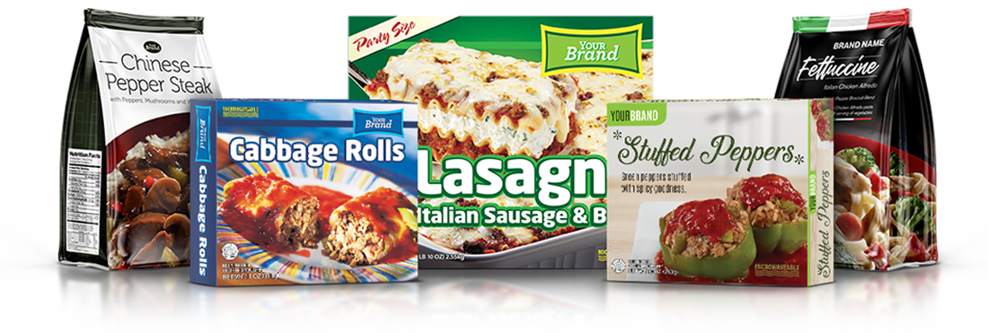 Frozen Entrées, Sides and Skillet Meal Co-Packing, Request Foods